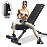EXF Weight Bench Adjustable, Strength Training Bench for Full Body Workout with Fast Folding