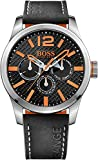 Hugo Boss Orange Herren Multi Zifferblatt Quarz Armbanduhr mit Lederarmband
