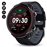 GOKOO Smartwatch Herren Fitness Tracker für Android IOS 1,3 Zoll Voller Touch Screen Bluetooth Armbanduhr wasserdichte...